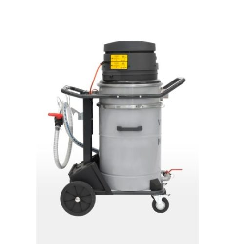 Nilfisk VHO200 4010400037 - Odkurzacz przemysłowy do zbierania olejów i chłodziwa, bok