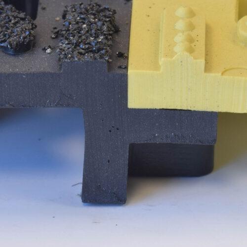 NOTRAX 922 Cushion Lok HD Solid Grip Step - Podest PCV, z powłoką, w dowolnym wymiarze i kształcie, przekrój