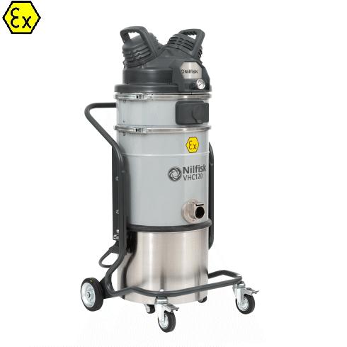 Nilfisk VHC120 Z1 EXA 4062400006 - Odkurzacz przemysłowy pneumatyczny Ex, ATEZ Z1, na sprężone powietrze