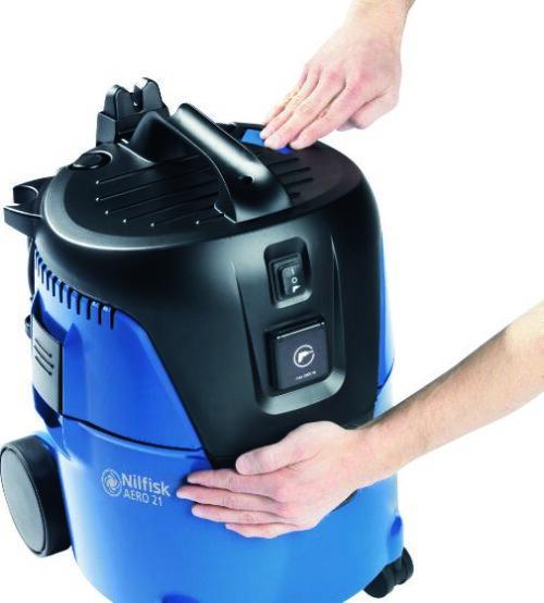 Nilfisk AERO 21-01 PC 107406600 - Odkurzacz profesjonalny na sucho mokro, system czyszczenia filtra głównego