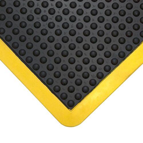 COBA Bubblemat Connect - Moduły gumowe antyzmęczeniowe z żółtymi krawędziami