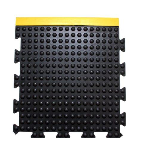 COBA Bubblemat Connect - moduł boczny czarny z żółtymi krawędziami