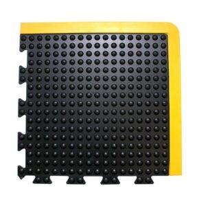 COBA Bubblemat Connect - moduł narożny czarny z żółtymi krawędziami