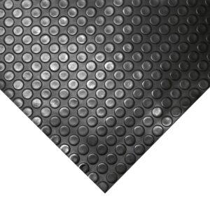 COBAdot - uniwersalna gumowa wykładzina podłogowa, czarna