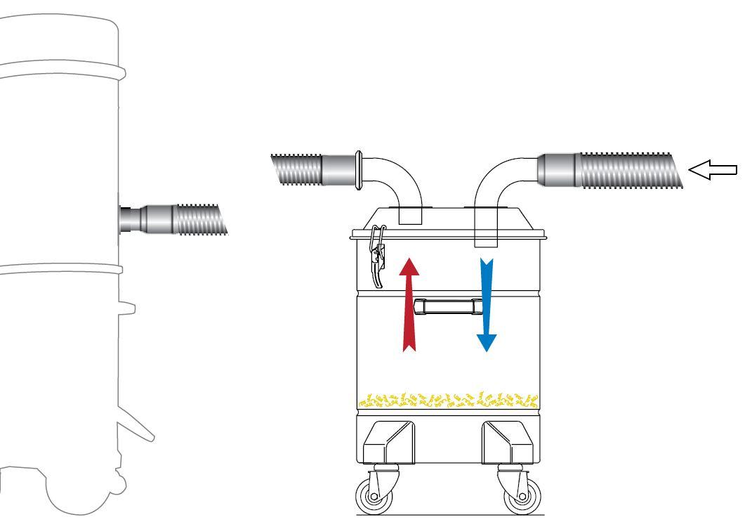 Pokrywa separatora do materiałów stałych - schemat