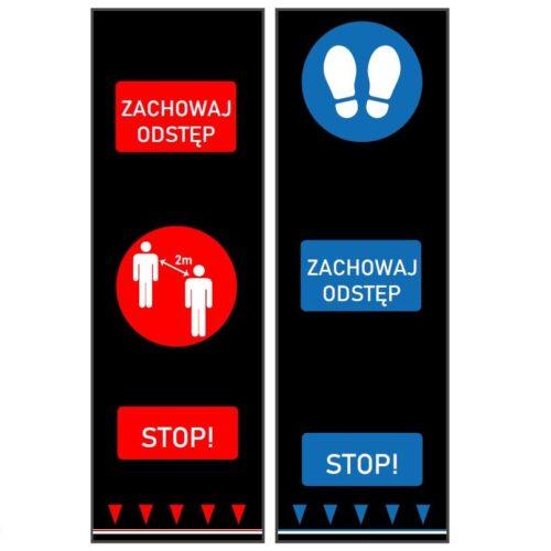 Mata bezpiecznego odstępu, zachowaj odstęp, koronowirus COVID-19