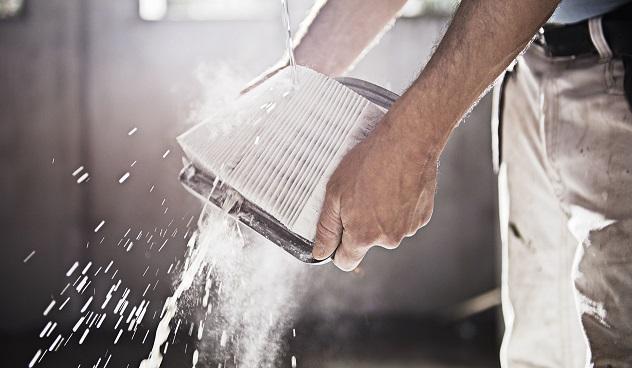 Odkurzacz przemysłowy do gipsu z otrząsaczem pyłu